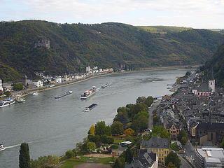 El Rhin a su paso por la Renania Palatinado
