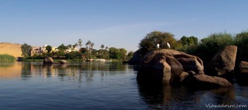 Paisaje del Nilo en Aswan