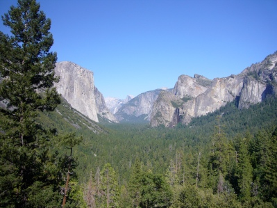 Valle de la Merced en el Parque nacional de Yosemite