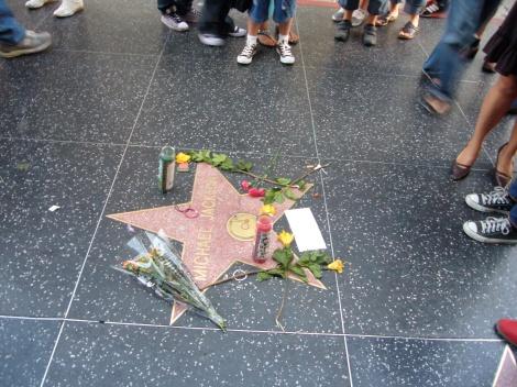 Estrella de Michael Jackson en el paseo de la fama.