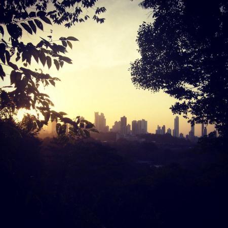 Vista de Panamá desde el Parque Metropolitano.
