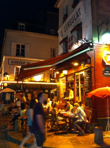 Montmartre terraces at dinning time