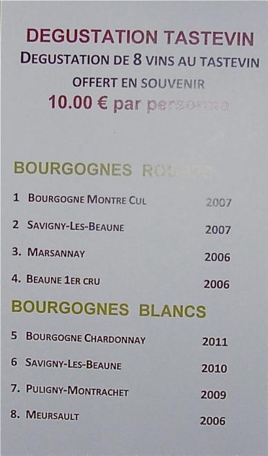 cata de vinos de borgoña