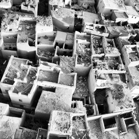4.Desde el cielo Fotografía digital en blanco y negro. Dimensiones 12,7x12,7cm Precio 30€