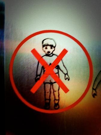 prohibido niños