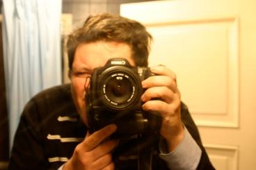 Foto poco profesional frente al espejo