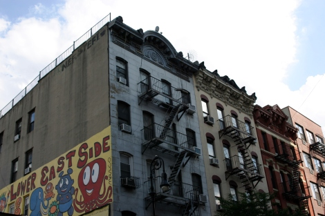 Fachadas del Lower East Side en Nueva York