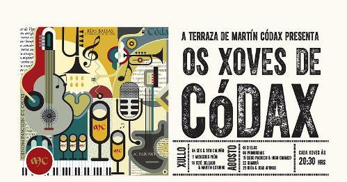 """cartel 2014 de """"Os Xoves de Codax"""""""