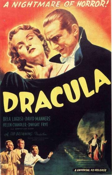 """Cartel de la primera película de Bela """"Drácula"""" Lugosi con Universal Pictures"""