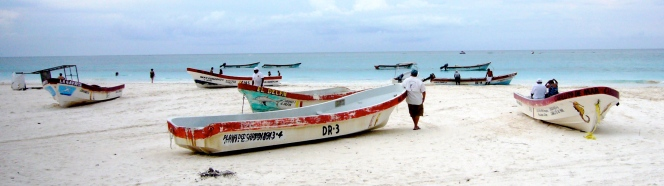 Playa pescadores en Tulum