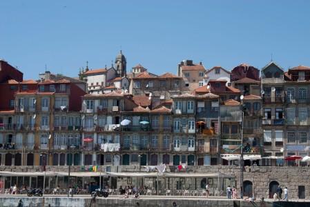 Las casas de la zona vieja de Oporto