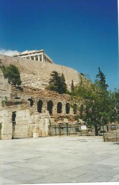 La Acrópolis de Atenas desde fuera, que es como la vio Maruxaina debido a una huelga de funcionarios.