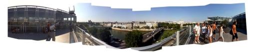 Terraza del Instituto del Mundo Árabe en París