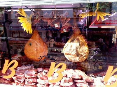 Embutidos y jamones en Chaves (Portugal