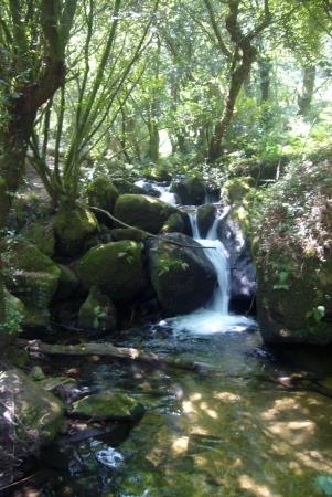 Poza en la ruta da pedra y da auga en Armenteira