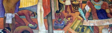 mural Diego rivera epoca mexicas