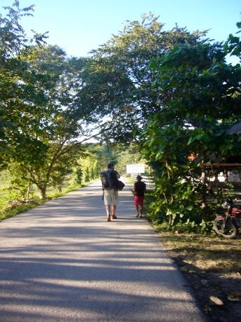 caminado por el Petén, Guatemala