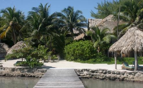 vista del Xanadú Island resort en San Pedro, belice