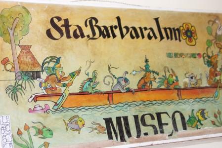 rótulo del museo del islote santa barbara