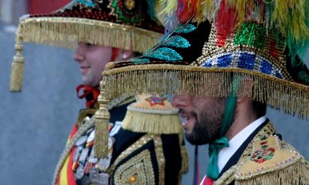 """Os """"Xenerais do Ulla"""" personajes satíricos del carnaval de A Estrada"""