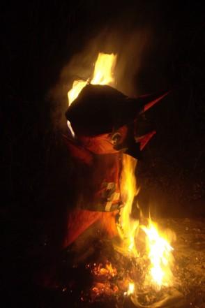 Diablo ardiendo