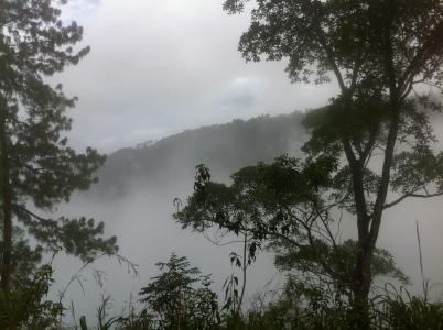 Paisaje nublado en el Alta Verapaz