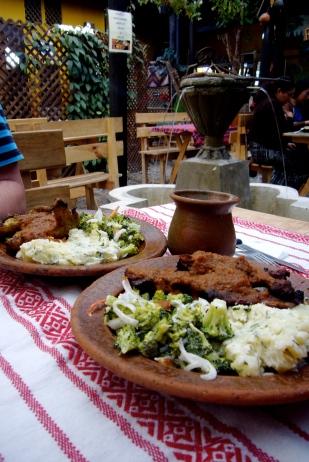 Restaurante típico en Antigua