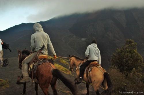 ascensión al pacaya en caballo