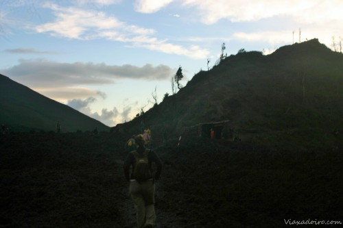volcán pacaya: campos de lava