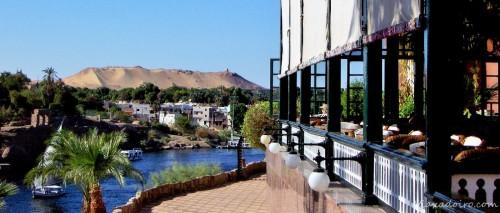 Otra vista del hotel Old Catarat en Aswan