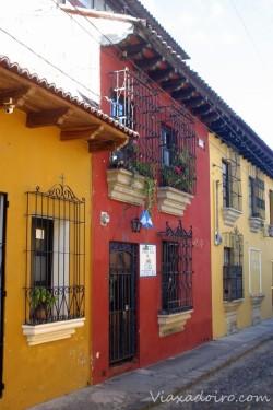 Exterior del hotel Casa Cristina en Antigua Guatemala