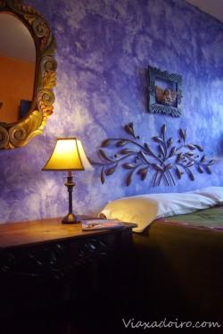 Detalle de una de las habitaciones del Hotel Casa Cristina en Antigua Guatemala
