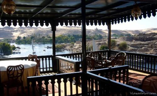 Restaurante con vistas al Nilo en el Old Cataract