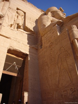 Detalle del templo de Ramses II en Abú Simbel