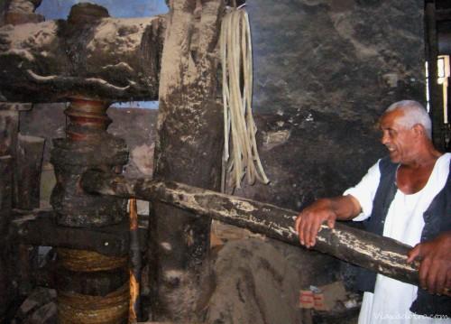 Almazara tradicional egipcia