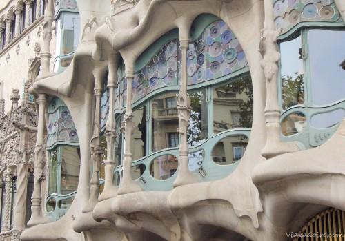 Fachada de la casa Batlló diseñada por Gaudí