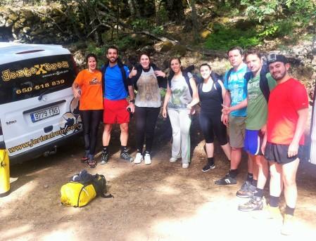 El grupo listo para empezar la caminata con Belén, nuestra guía de Jertextrem