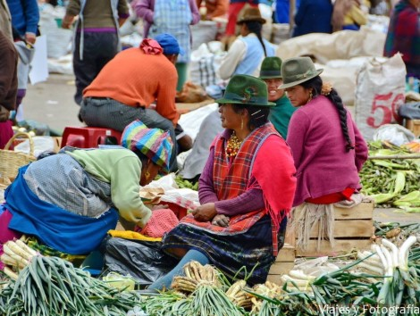 Mercado indígena de Sayaquil en Ecuador